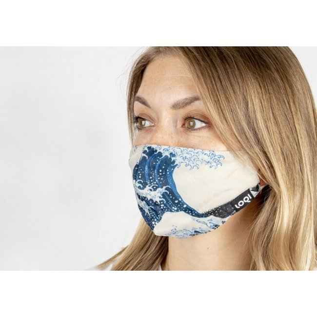 Loqi - Mouth Mask Art - Katsushika Hokusai - The Great Wave
