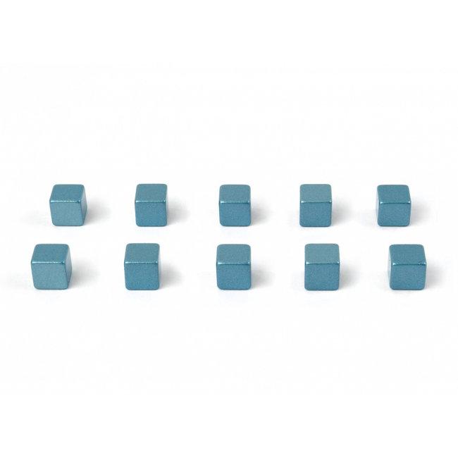 Trendform - Aimants Kubiq - bleu glacier - ensemble de 10