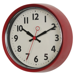 Rex London Wall Clock 1950's - red