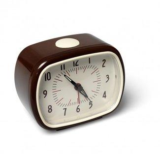 Rex London Retro Alarm Clock - brown