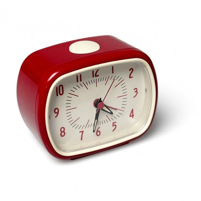 Rex London - Retro Wekker Alarmklok - rood
