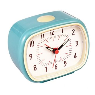 Rex London Retro Alarm Clock - blue
