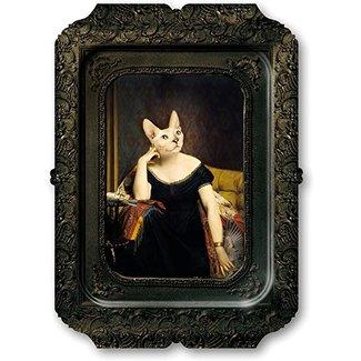 Ibride Tablett / Gemälde - Katze Victoire