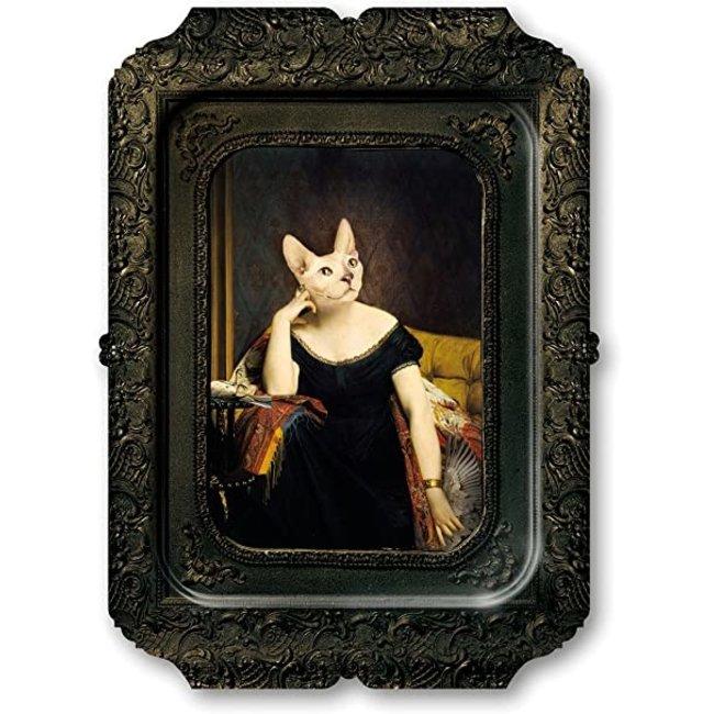 Ibride - Tablett / Gemälde - Katze Victoire - medium