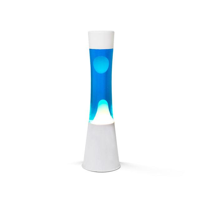 i-total Lampe à Lave  - bleue avec lave blanche