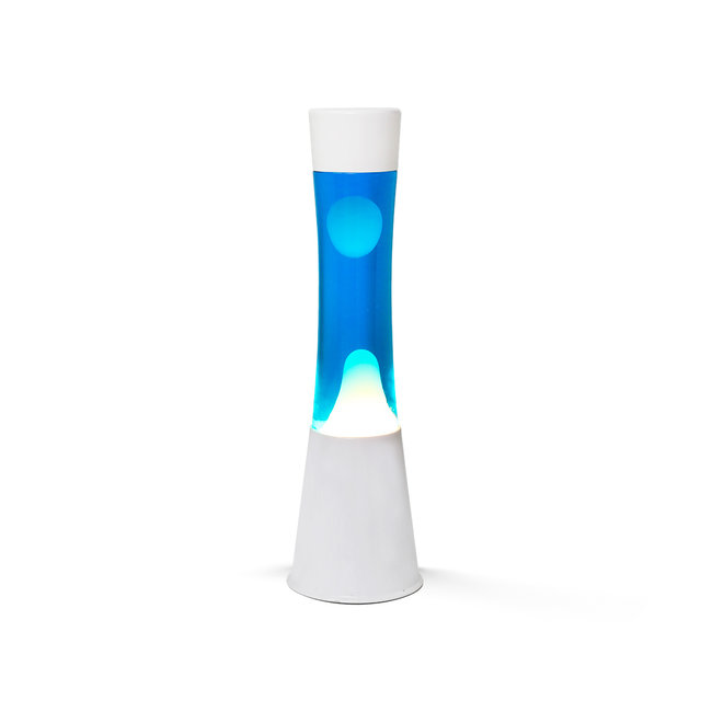 i-total Lava Lamp - blue with white lava