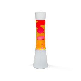 i-total Lampe à Lave  - orange avec lave rouge