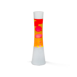 i-total Lavalampe - orange mit roter Lava