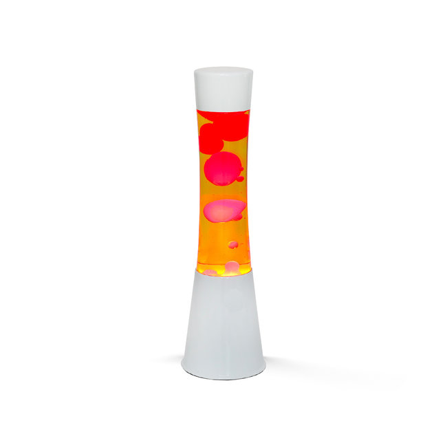 i-total Lava Lamp - oranje met rode lava