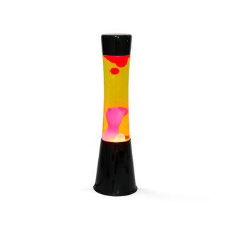 i-total Lava Lamp - orange with red lava - black base