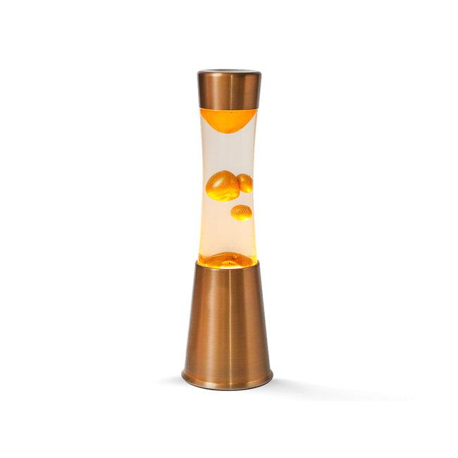 i-total Lampe à Lave Compacte Or