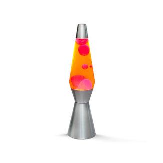 i-total Lava Lamp Raket - oranje met rode lava