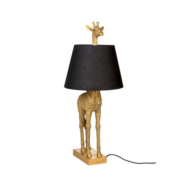 Tischlampe - Tierlampe Giraffe - Gold