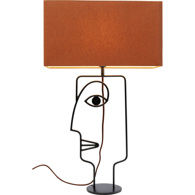 Karé Design Tischlampe Face Wire