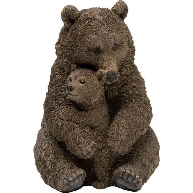 Karé Design - Statue Cuddle Bear Family - 26x30