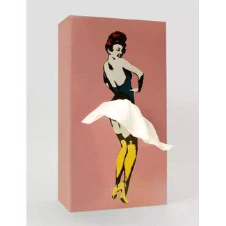 Spextrum Distributeur de Mouchoirs Tissue Up Girl - rose