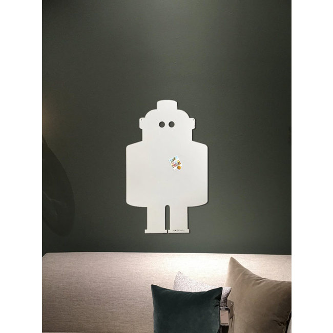 FAB5 Wonderwall Magneetbord - Memobord Robot 54x80 cm - gebroken wit