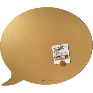 FAB5 Wonderwall Magneetbord Tekstballon - medium - goud
