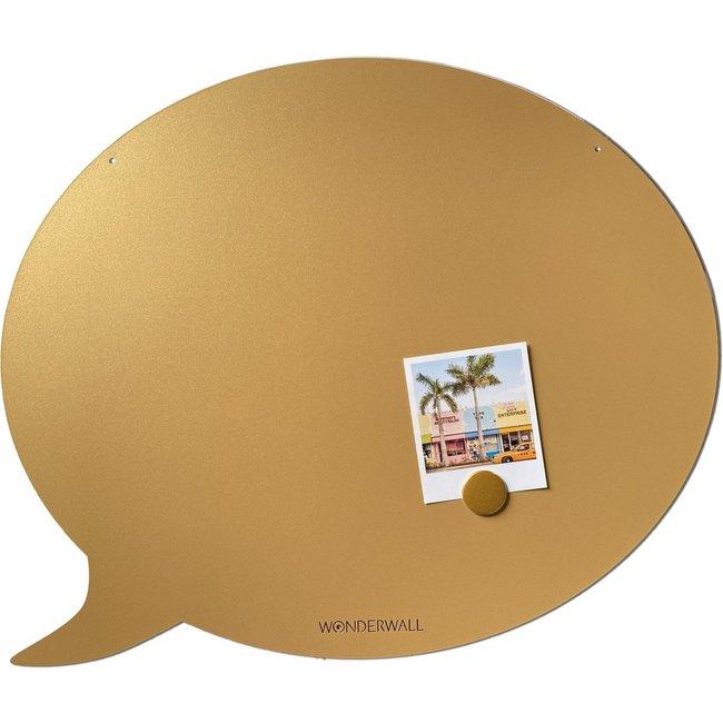 FAB5 Wonderwall Magnettafel Sprechblase - medium - gold