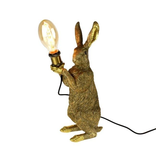 Werner Voß - Tischlampe - Tierlampe Meister Kaninchen - Gold - H 48 cm