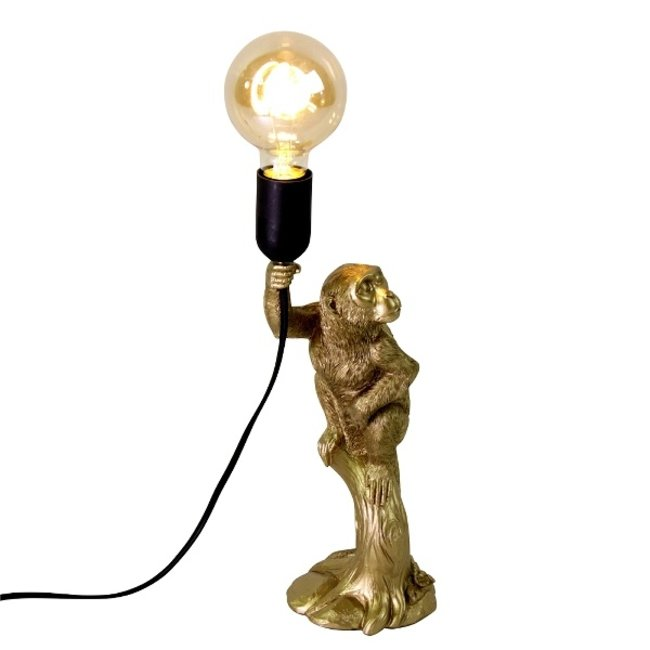 Werner Voß - Table Lamp - Animal Lamp Little Monkey - gold - H 34 cm
