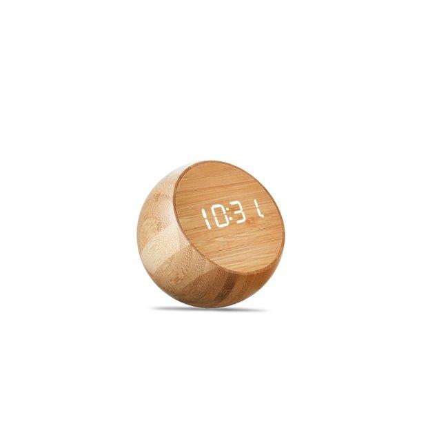 Gingko Wekker Tumbler Click Clock - bamboe
