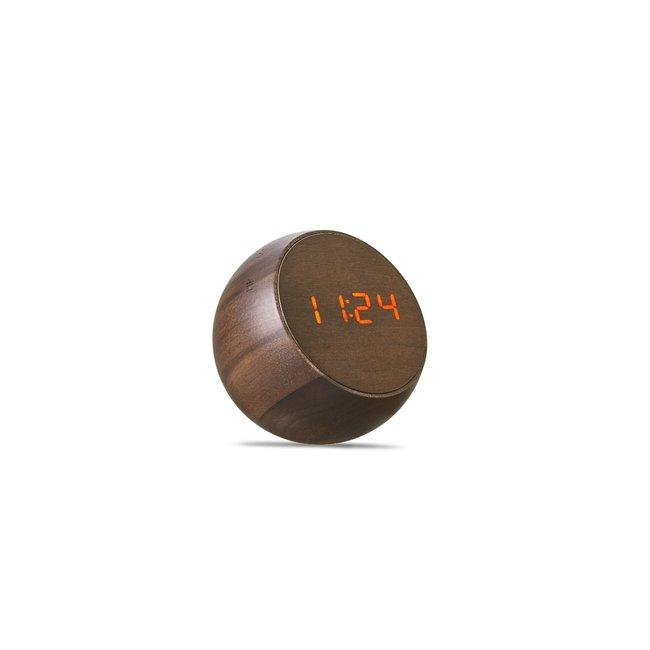 Gingko - Wecker Tumbler Click Clock - Walnuss