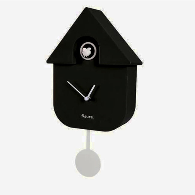 Fisura Koekoeksklok Cuckoo House - zwart/wit