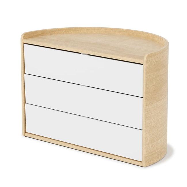 Umbra - Boîte à Bijoux - Boîte de Rangement Moona - blanc/bois naturel