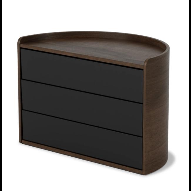 Umbra - Boîte à Bijoux - Boîte de Rangement Moona - noir/noyer