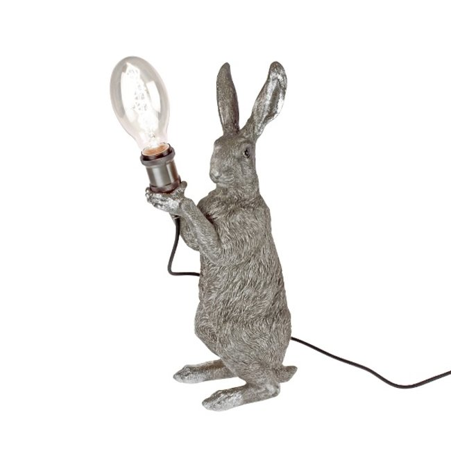 Werner Voß - Tischlampe - Tierlampe Meister Kaninchen Silber - H 48 cm