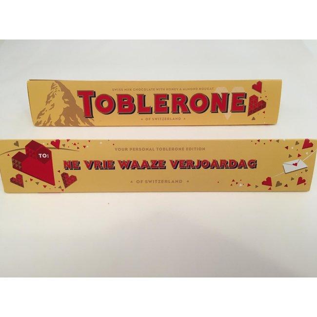 Toblerone - Geschenk Schokolade Gent-Dialekt - Ne Vrie Waaze Verjoardag