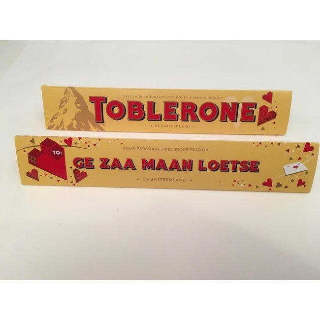 Toblerone - Geschenk Schokolade Gent Dialekt - Ge Zaa Maan Loetse