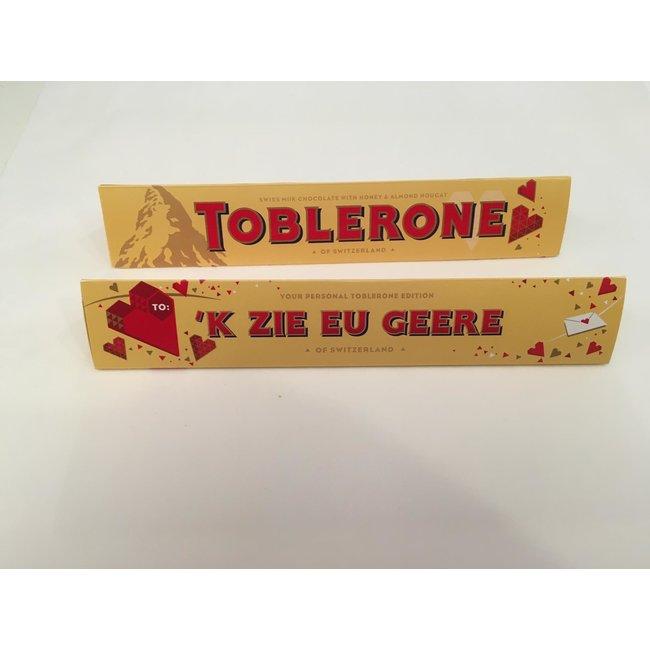 Toblerone - Geschenk Schokolade Genter Dialekt - 'k Zie Eu Geere