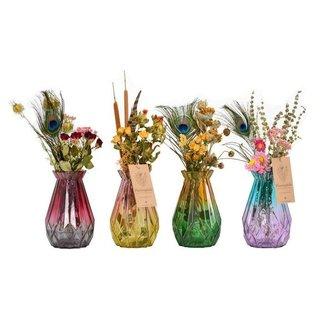 Plantophile Vase mit Strauß getrockneter Blumen - klein