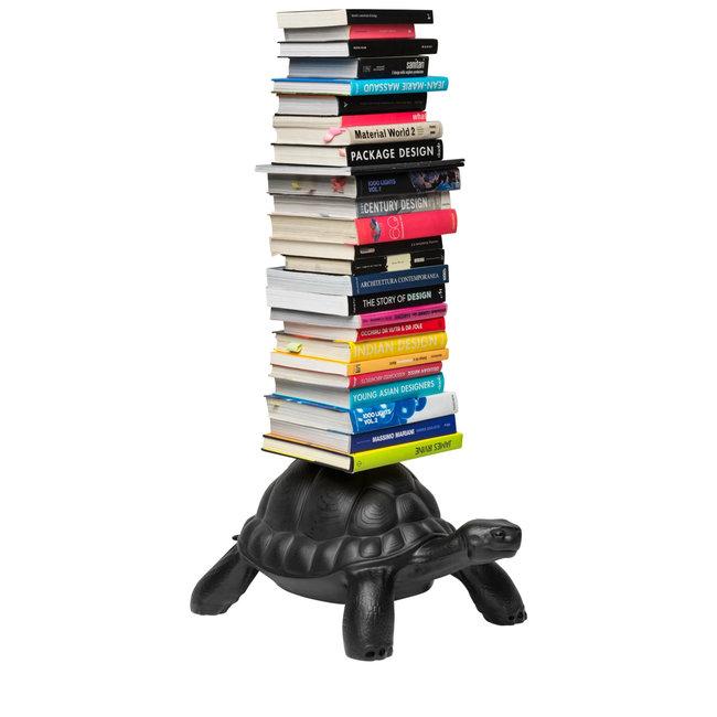 Qeeboo Porte-livres Tortue Carry - noir