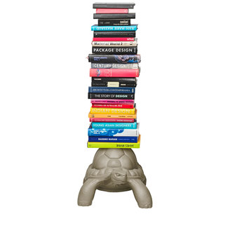 Qeeboo Porte-livres Tortue Carry - gris