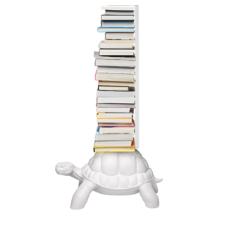 Qeeboo Boekenrek Schildpad Carry - wit