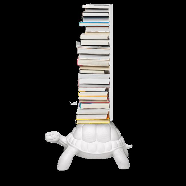 Qeeboo Porte-livres Tortue Carry - blanc