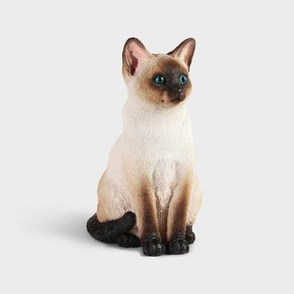 &klevering Money Box Statue Siamese Cat