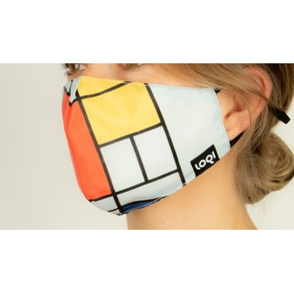 Loqi Mouth Mask Art - Piet Mondriaan