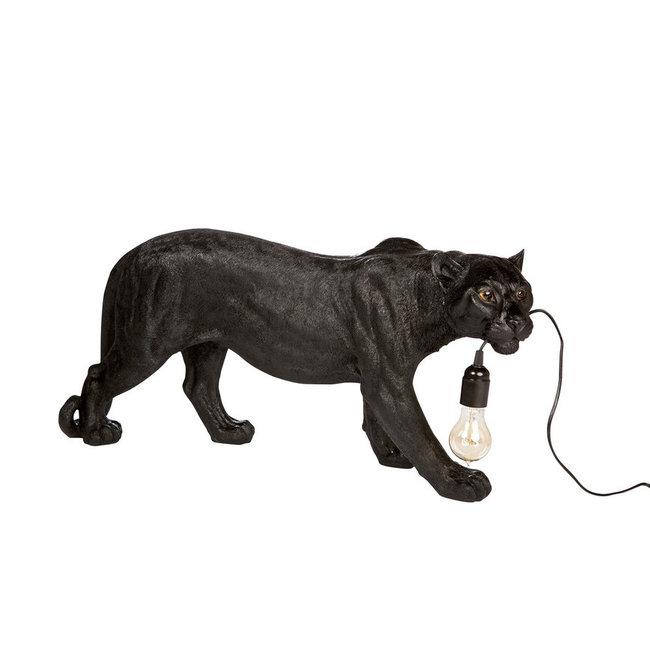 Vloer- of Tafellamp - Dierenlamp Luipaard - zwart - B 77 cm