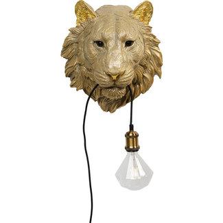 Karé Design Wall Lamp Golden Tiger