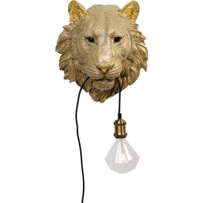 Karé Design Wandleuchte Golden Tiger