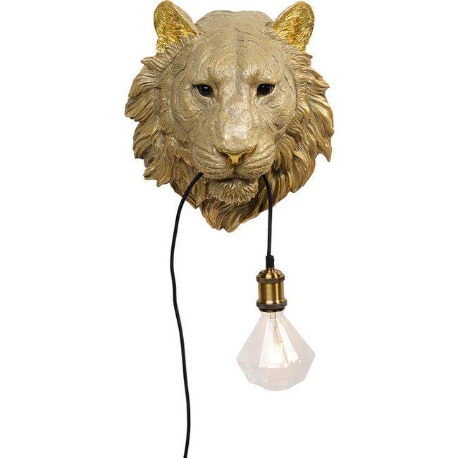 Wandlamp - Dierenlamp Gouden Tijger