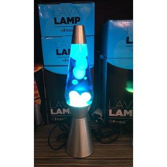 i-total Lampe à Lave Fusée  - bleu avec lave blanche