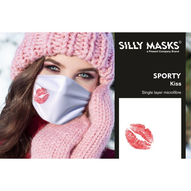Silly Masks Mouth Mask Kiss