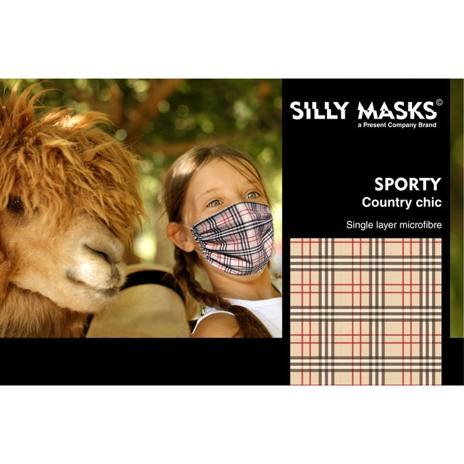 Silly Masks - Mouth Mask Country Chique