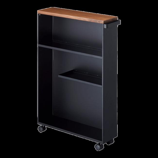 Yamazaki - Storage Cart Tower semi-closed - black