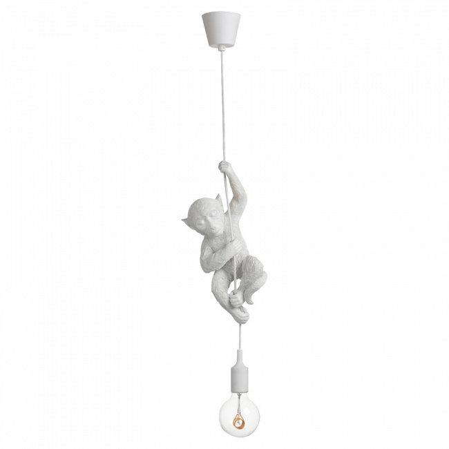 Hängelampe - Tierlampe Affe - weiß
